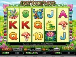 Slot machines with butterflies